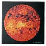 Venus, mapa del radar azulejo cuadrado grande