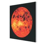 Venus, mapa del radar impresión en lienzo