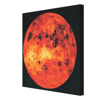 Venus, mapa del radar impresiones en lienzo estiradas