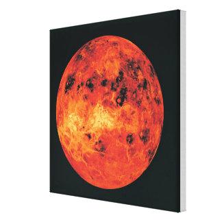 Venus, mapa del radar impresión en lona estirada