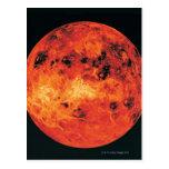 Venus, mapa del radar tarjeta postal
