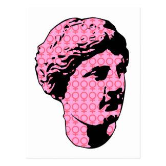 Venus marble statue postcard