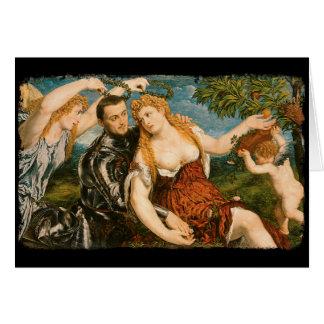 Venus, Mars, and Cupid Crowned by Victory Card