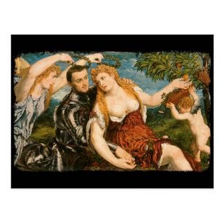 Venus, Mars, and Cupid Crowned by Victory Postcard