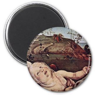 Venus, Mars And Cupid Detail By Piero Di Cosimo (B Fridge Magnets