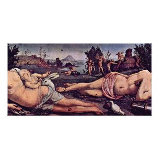Venus, Marte y Cupid, italiano: Venere E Marte Amo Tarjeta Fotográfica
