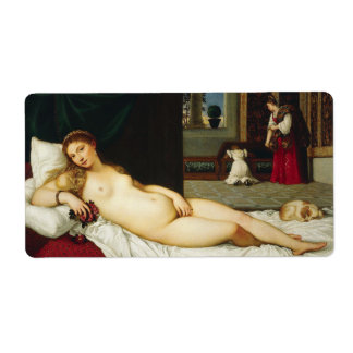 Venus of Urbino by Titian Personalized Shipping Label