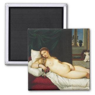 Venus of Urbino by Titian Fridge Magnets