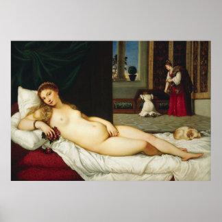 Venus of Urbino by Titian Posters