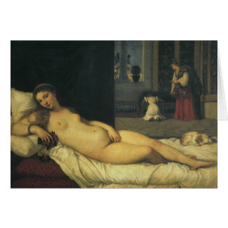 Venus of Urbino by Titian, Renaissance Art Greeting Card