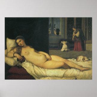 Venus of Urbino by Titian Renaissance Art Poster