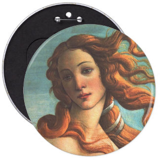 Venus on the Half Shell (detail) Pinback Button