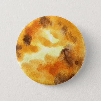 Venus Planet Watercolor Round Button