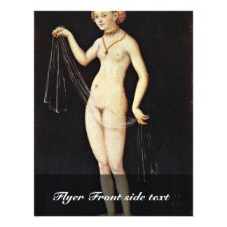 Venus por Cranach D. Ä. Lucas (la mejor calidad) Flyer A Todo Color