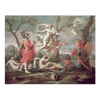 Venus que arma a Aeneas 1639 Tarjeta Postal