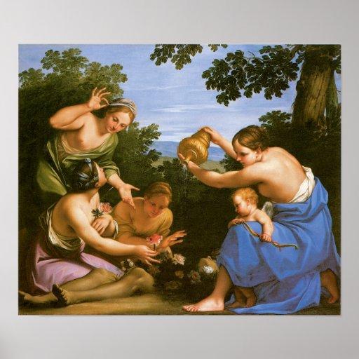 Venus que unta al Adonis muerto, 1692-1700 Posters