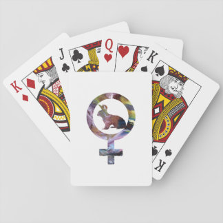 Venus Rabbit Playing Cards