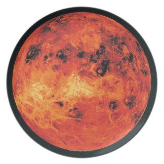 Venus, Radar Map Melamine Plate