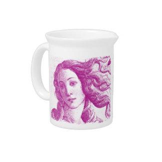 Venus * Sandro Botticelli Beverage Pitcher