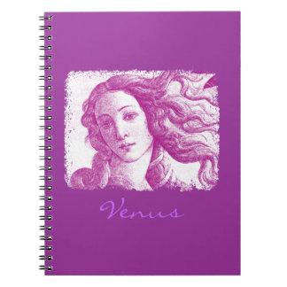 Venus Sandro Botticelli Spiral Notebook