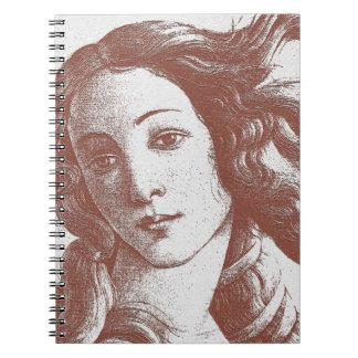 Venus Sandro Botticelli Spiral Note Book
