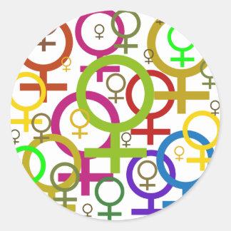 Venus Round Sticker