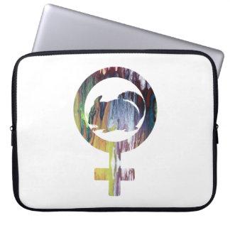 Venus Symbol Chinchilla Art Computer Sleeve