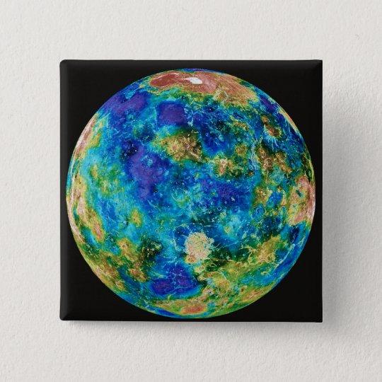 Venus Under False Color Pinback Button