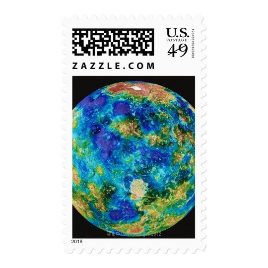Venus Under False Color Postage