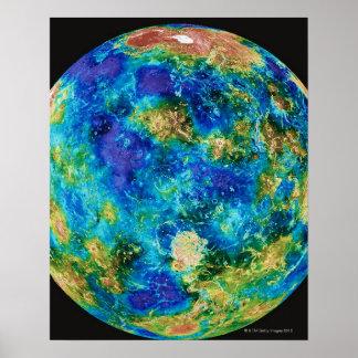 Venus Under False Color Poster