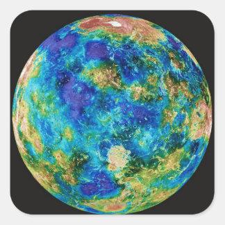 Venus Under False Color Square Sticker