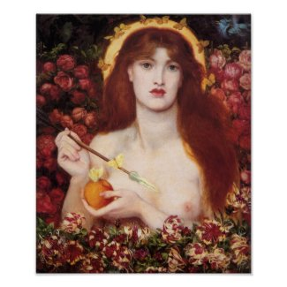 Venus Verticordia Dante Gabriel Rossetti Cardstock Poster