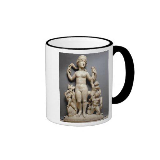 Venus with putti, a triton and a dolphin, Roman, 4 Coffee Mug