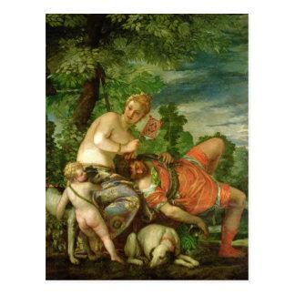 Venus y Adonis 1580 Postales