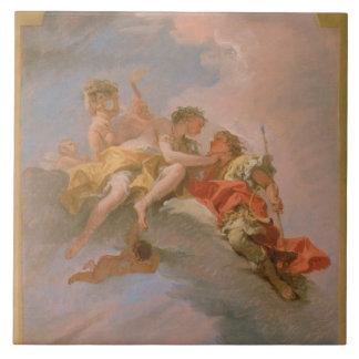 Venus y Adonis (aceite en lona) Azulejo Cuadrado Grande