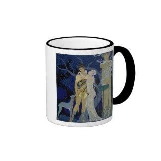 Venus y Adonis (litho del color) Taza A Dos Colores