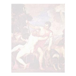 Venus y Adonis, por Tizian (la mejor calidad) Membretes Personalizados