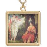 Venus y Anchises, 1826 (aceite en lona) Colgante Cuadrado
