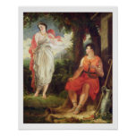 Venus y Anchises, 1826 (aceite en lona) Póster
