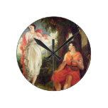 Venus y Anchises, 1826 (aceite en lona) Reloj Redondo Mediano