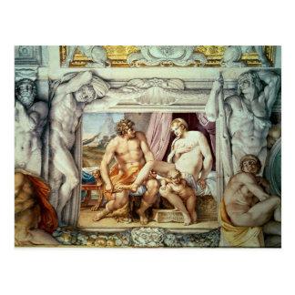 Venus y Anchises Postales