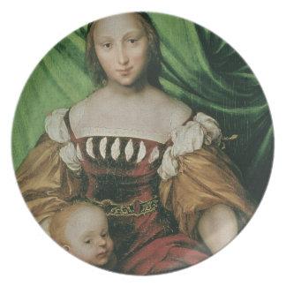 Venus y Cupid, c.1524 (aceite en limewood) Platos