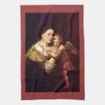 Venus y Cupid de Rembrandt Harmenszoon van Rijn Toalla De Mano