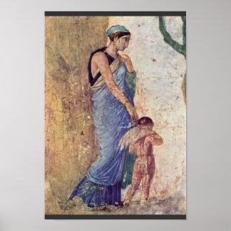 Venus y detalle castigado Cupid por Pompejanischer Póster