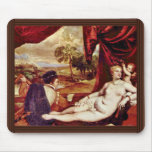 Venus y el jugador del laúd, por Tizian Tapetes De Raton