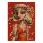 Venus y luciérnagas tarjeta de negocio