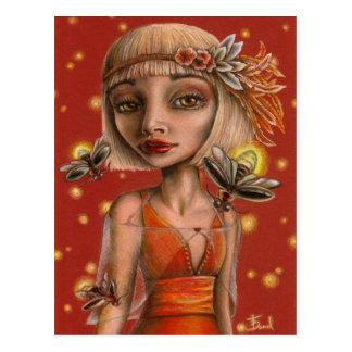 Venus y luciérnagas postales