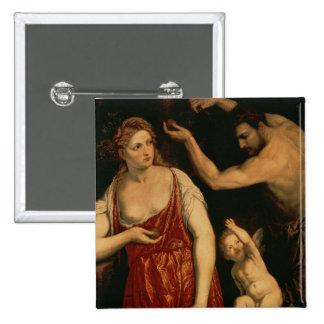 Venus y Marte, 1550s Pin Cuadrado