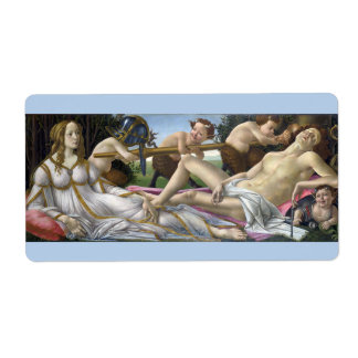 Venus y Marte de Sandro Botticelli Etiquetas De Envío
