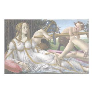 Venus y Marte de Sandro Botticelli Papelería De Diseño